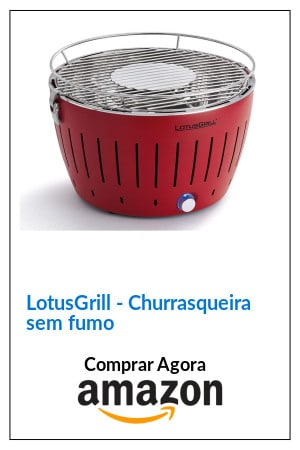 LotusGrill Churrasqueira portátil sem fumo